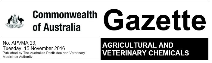 apvma-gazette
